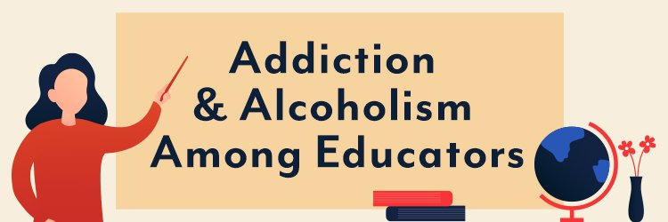 a teacher teaches her class about addiction and alcoholism among educators